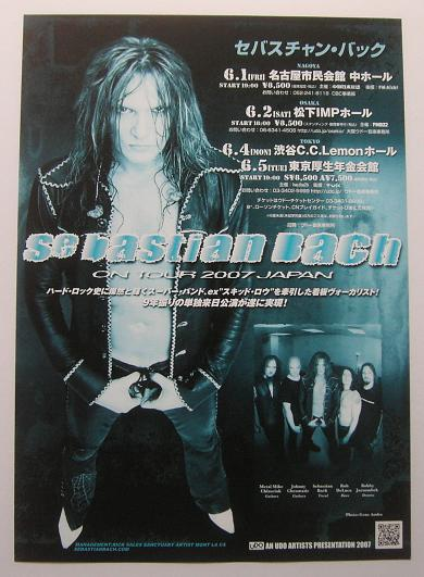 Japan 2007 Tour Handbill