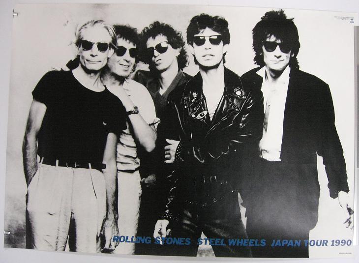 Rolling Stones 1990 Jap Tour Poster Records Lps Vinyl
