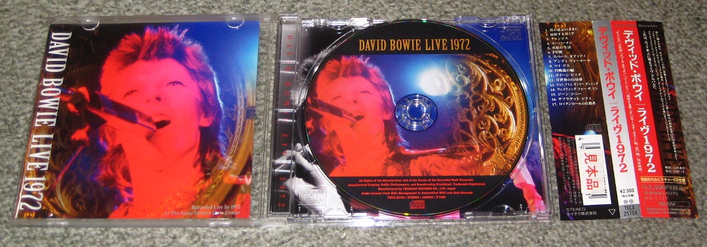 Bowie, David - David Bowie Live 1972