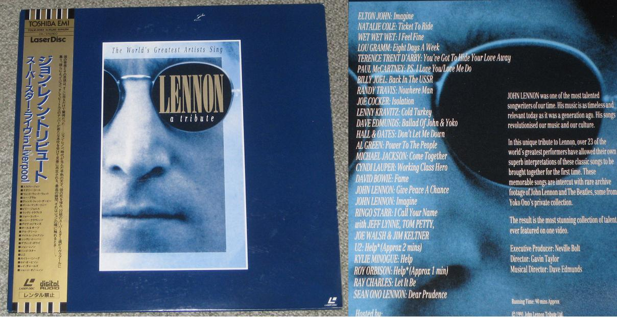 Bowie,David Lennon - A Tribute VIDEO:LASERDISC