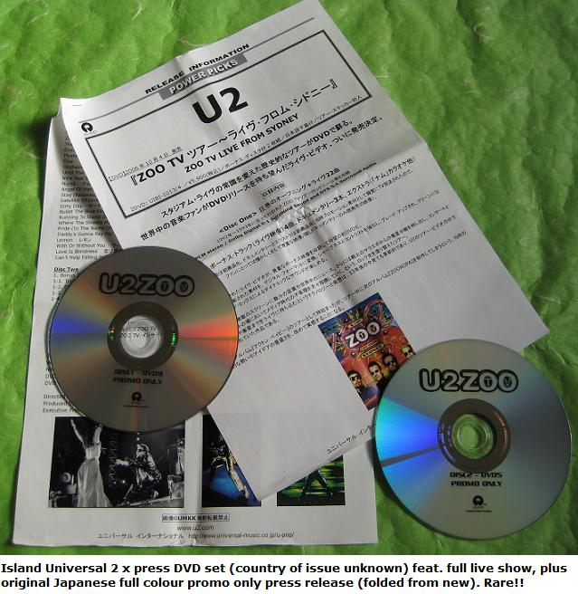 U2 Zoo 2 X Dvd Set