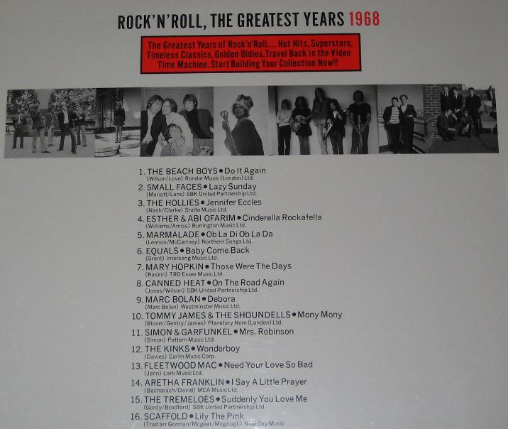 Rock N Roll Greatest 1968