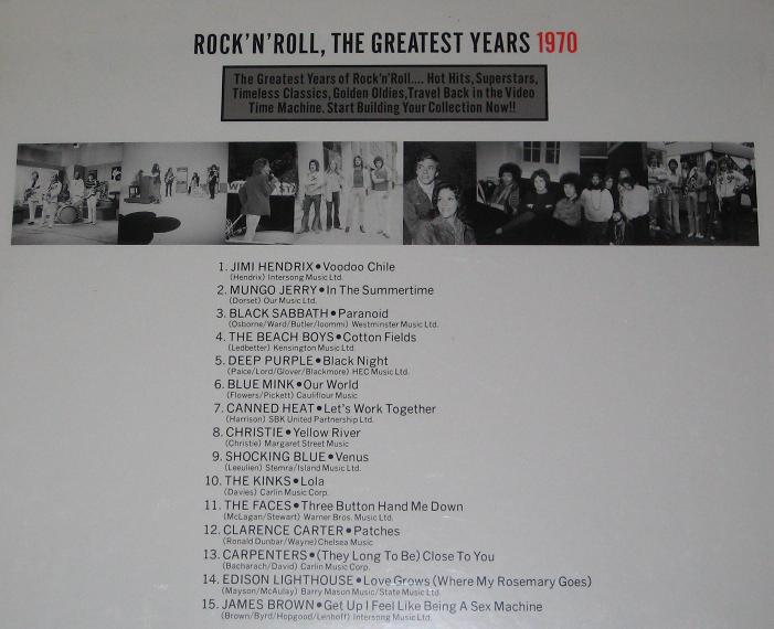 Rock N Roll Greatest 1970