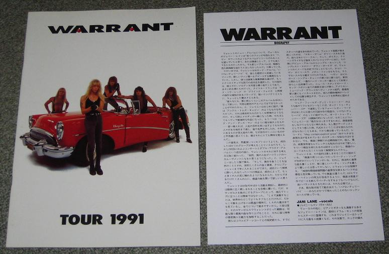 World 1991 Tour Book