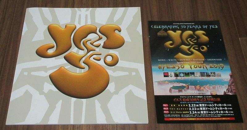 YES - Japan 2019 tour book + flyer - Programme Concert