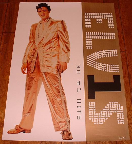 ELVIS PRESLEY - 30 Number 1 Hits - Poster / Affiche