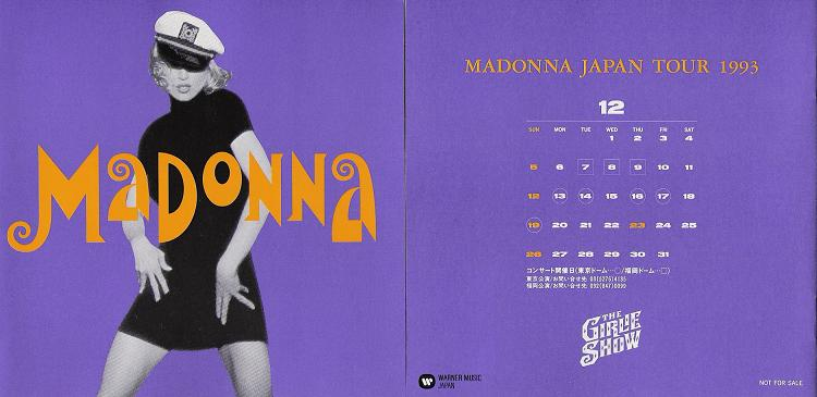 Madonna Japan Tour 1993 Promo Booklet BKLT