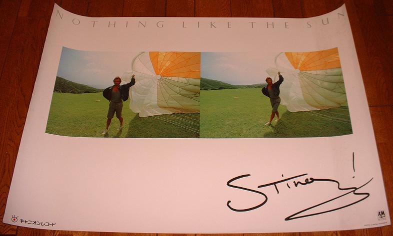 Sting Nothing Like The Sun Poster POSTER